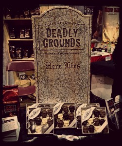 Blend in with some creepy consumables from Deadly Grounds.