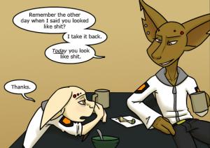 Ten and Kiva snark