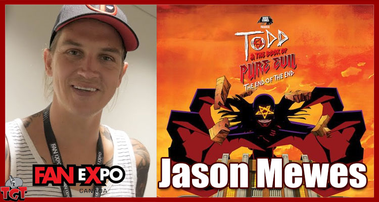 Jason Mewes at Fan Expo Canada 2017 for Todd and the Book of Pure Evil final film.